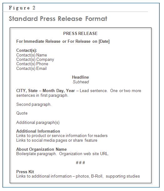 standard press release format - Template